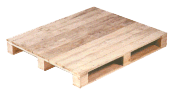 Four way entry pallet close boarded, 3 base