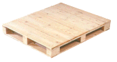 Four way entry pallet close boarded, perimeter base
